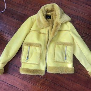 river island yellow jacket